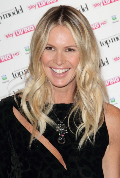 Elle Macpherson's Blonde, Tousled, Wavy, Long Hairstyle