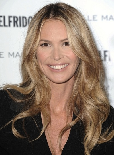 Elle Macpherson Long, Wavy, Romantic, Sophisticated, Sexy, Blonde Hairstyle