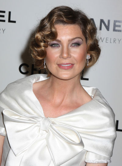 Ellen Pompeo Short, Curly, Sophisticated Hairstyle