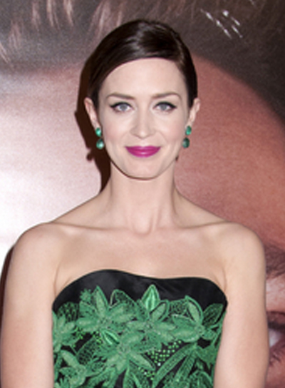 Emily Blunt's Chic, Sophisticated, Brunette, Updo Hairstyle