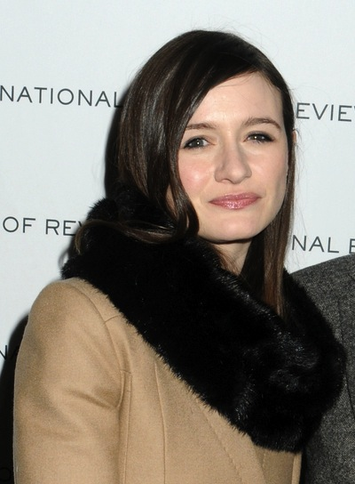 Emily Mortimer Short, Straight, Brunette Hairstyle