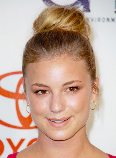 Emily VanCamp's Chic, Blonde, Sophisticated, Updo Hairstyle