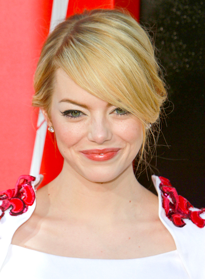 Emma Stone's Chic, Sophisticated, Blonde, Updo Hairstyle