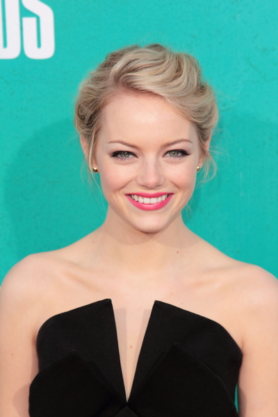 Emma Stone's Sophisticated, Blonde, Updo Hairstyle with Braids and Twists