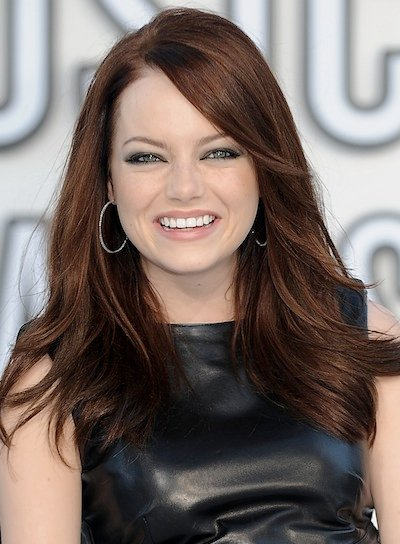 Emma Stone Sexy, Tousled, Medium Hairstyle