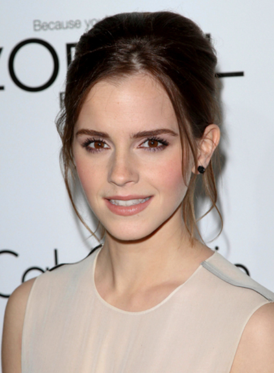 Emma Watson's Sophisticated, Chic, Brunette, Updo Hairstyle