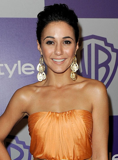 Emmanuelle Chriqui Sophisticated, Brunette Updo