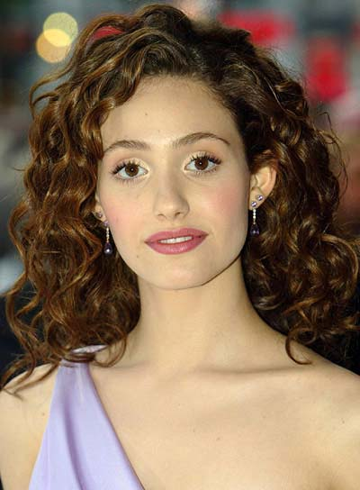 Emmy Rossum Curly, Brunette Hairstyle