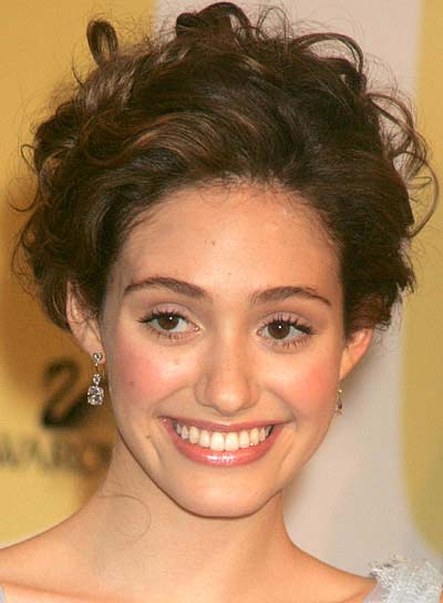 Emmy Rossum Curly, Wedding Updo