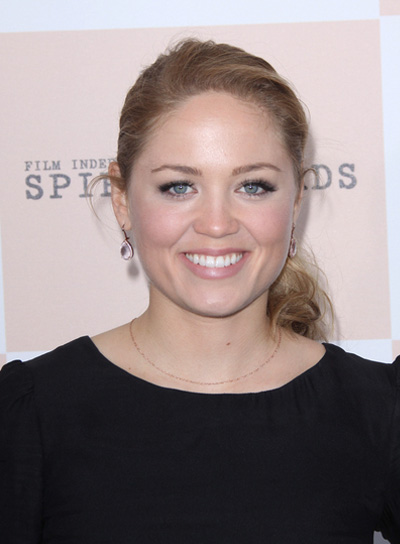 Erika Christensen Curly, Blonde Ponytail