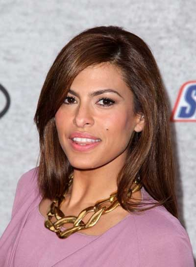 Eva Mendes Straight, Sophisticated Hairstyle