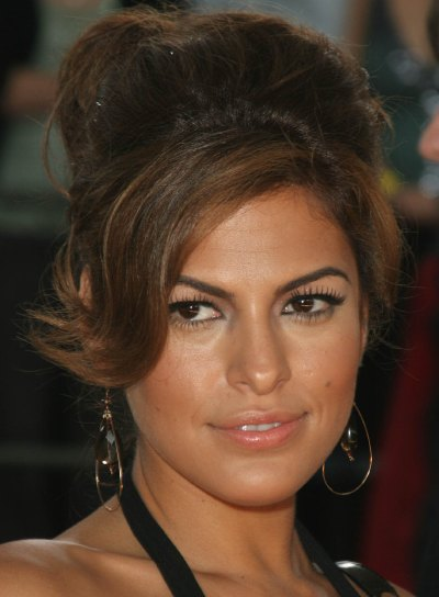 Eva Mendes Sexy, Prom Updo