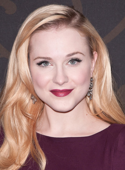 Evan Rachel Wood Long, Blonde, Sophisticated Hairstyle