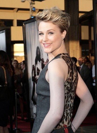 Evan Rachel Wood Short, Tousled, Edgy, Chic, Blonde Hairstyle