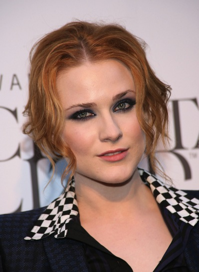 Evan Rachel Wood Tousled, Sophisticated, Red Updo