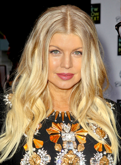 Fergie's Long, Blonde, Wavy, Tousled Hairstyle