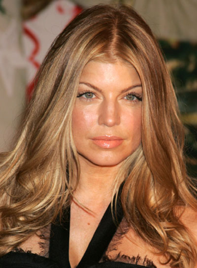 Fergie Long, Sexy, Tousled Hairstyle