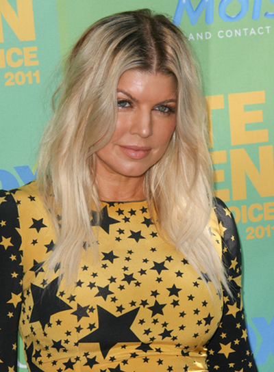 Fergie Tousled, Blonde Hairstyle