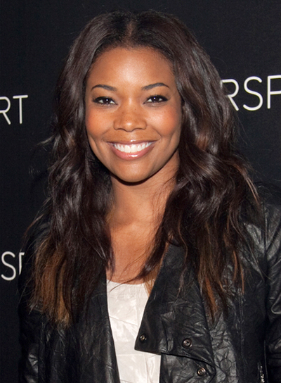 Gabrielle Union with a Long, Wavy, Romantic, Black Hairstyle Pictures