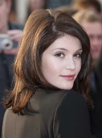 Gemma Arterton Short, Straight, Tousled, Brunette Hairstyle