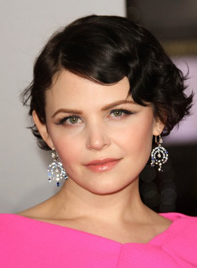 Ginnifer Goodwin Short, Tousled, Edgy Wavy, Brunette Hairstyle