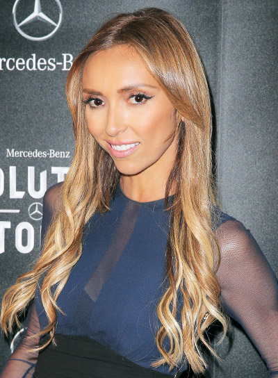 Giuliana Rancic Long, Wavy, Brunette, Sexy, Prom Hairstyle