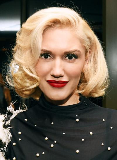 Gwen Stefani Medium, Blonde, Formal, Bob Hairstyle