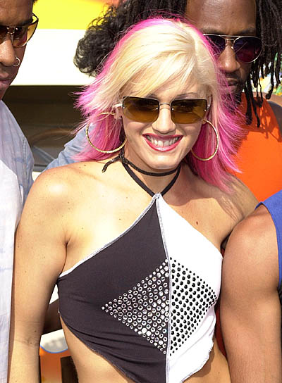 Gwen Stefani Medium, Edgy Hairstyle with Highlights