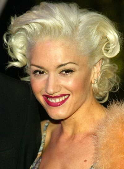 Gwen Stefani Short, Curly Hairstyle
