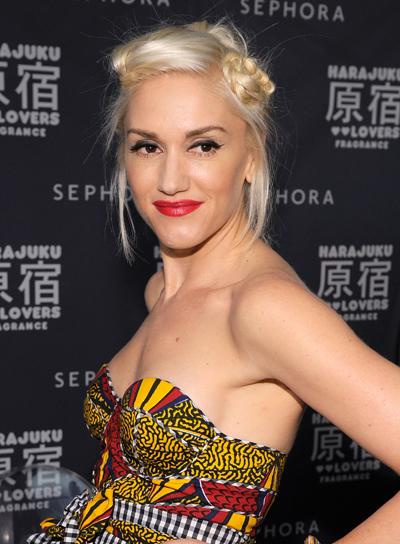 Gwen Stefani Funky, Blonde Updo