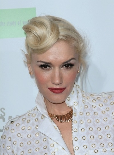 Gwen Stefani Funky, Edgy, Sophisticated, Blonde Updo