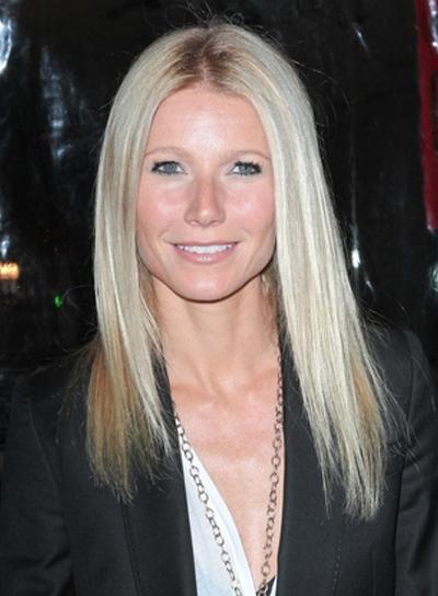 Gwyneth Paltrow's Medium, Straight, Chic, Blonde Hairstyle