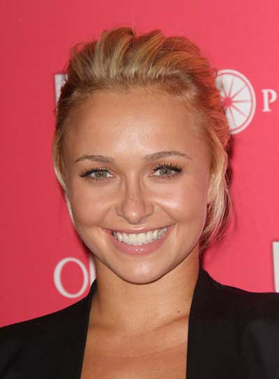 Hayden Panettiere Tousled, Chic, Blonde Updo
