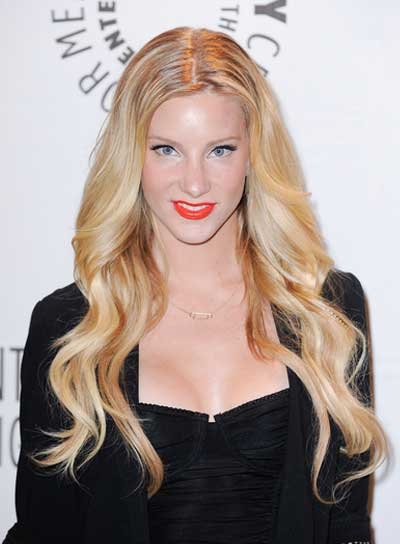 Heather Morris Long, Wavy, Sexy, Blonde Hairstyle
