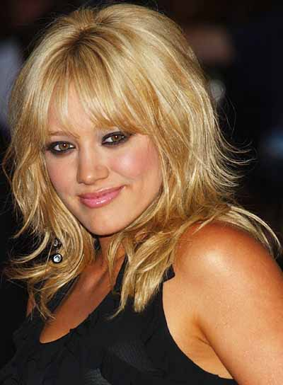 Hilary Duff Tousled, Layered, Funky Hairstyle