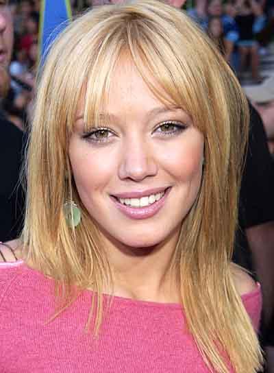 Hilary Duff Medium, Straight Hairstyle with Bangs