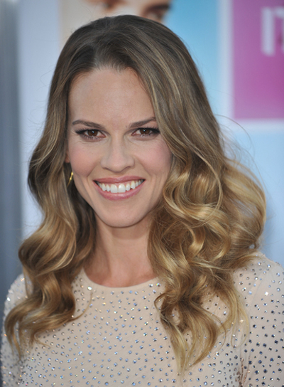 Hilary Swank Long, Wavy, Romantic, Blonde Hairstyle