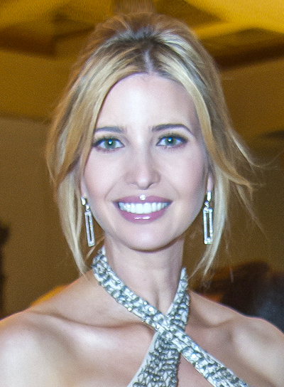 Ivanka Trump's Blonde, Straight, Formal, Updo Hairstyle