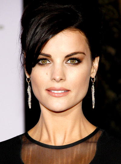Jaimie Alexander's Chic, Brunette, Ponytail Hairstyle with Bangs
