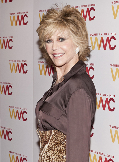 Jane Fonda Short, Blonde, Layered Hairstyle