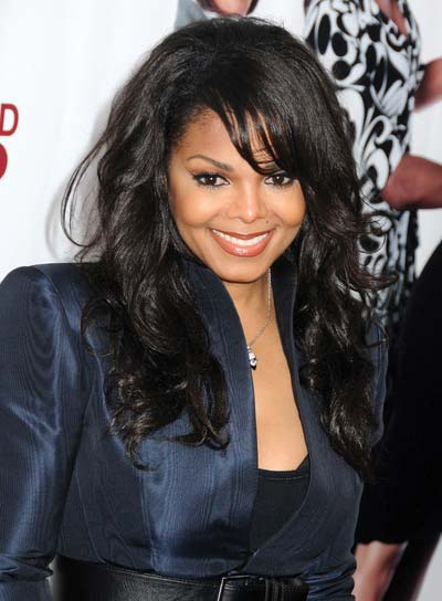 Janet Jackson Black, Curly Hairstyle with Bangs