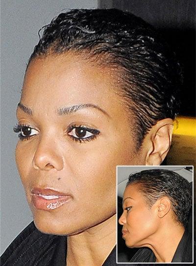Janet Jackson Short, Black, Edgy Hairstyle