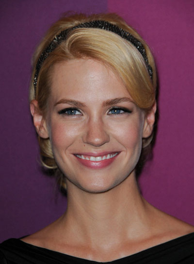 January Jones Sophisticated, Blonde Updo