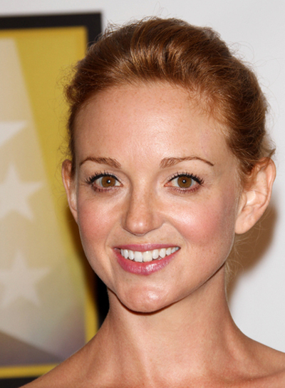 Jayma Mays Sophisticated, Romantic, Red Updo