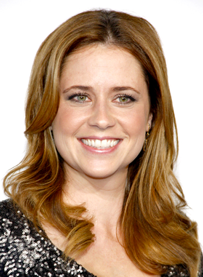 Jenna Fischer's Long, Wavy, Party, Brunette Hairstyle