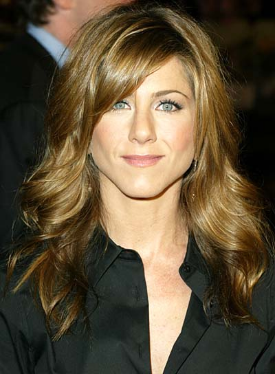 Jennifer Aniston Long, Wavy Hairstyle with Bangs