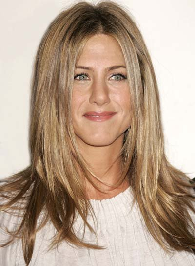 Jennifer Aniston Long, Straight Hair with Highlights