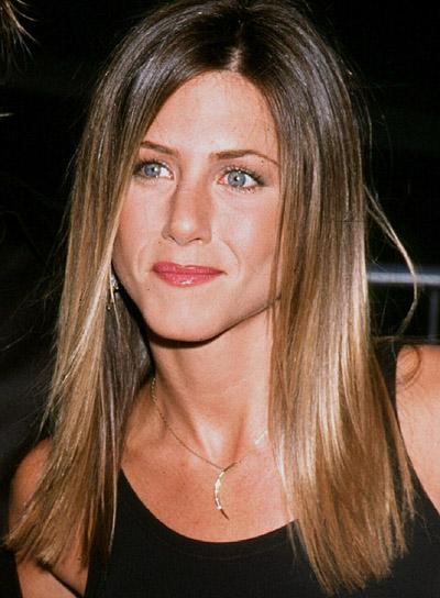 Jennifer Aniston Long, Straight, Layered Hairstyle