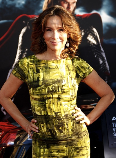 Jennifer Grey Short, Curly, Tousled, Chic, Brunette Hairstyle