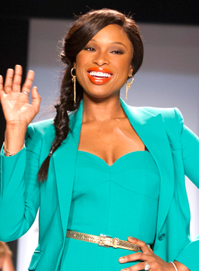 Jennifer Hudson's Long, Brunette, Ponytail Hairstyle with Braids and Twists